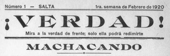 ¡Verdad!, la revista anarquista del noroeste argentino, disponible en AméricaLee