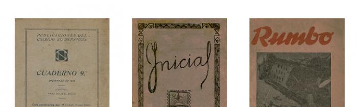 Las revistas Rumbo, Inicial y Cuadernos del Colegio Novecentista ya pueden consultarse en línea